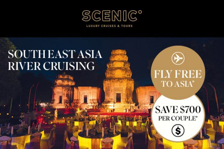 Fly Free to Asia or save $700 per couple on Scenic